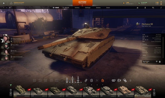 Armored Warfare garage4