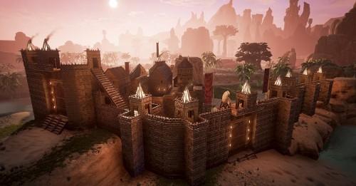 conan exiles trebuchets forteresse