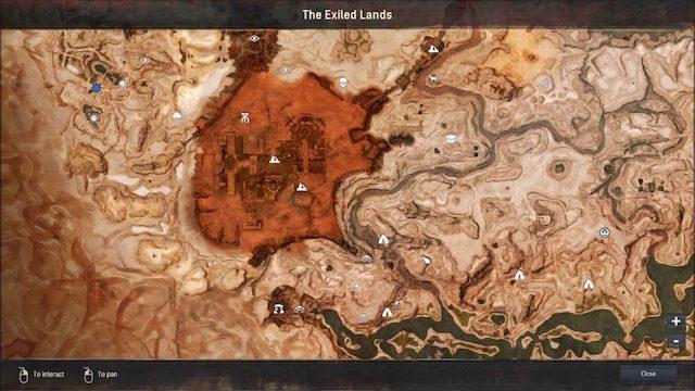 Conan Exiles MMORPG 2017 Map et point d'intérêts