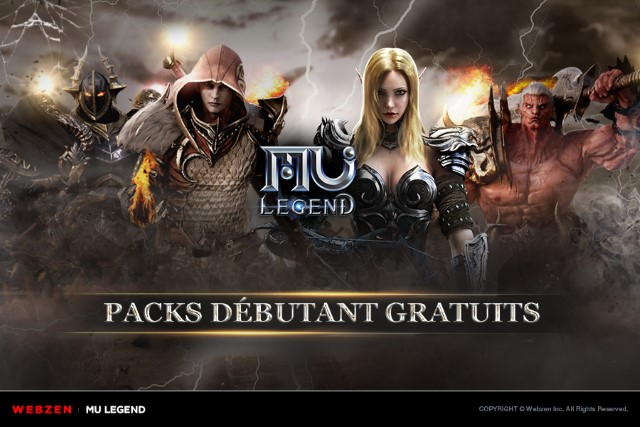 MU Legend - Des Starter Packs offerts
